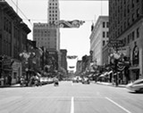 COPYRIGHT © 2012 MEMPHIS HERITAGE, INC./MRS. DON NEWMAN. ALL RIGHTS RESERVED. - Don Newman's photograph of the corner of Main and Adams in 1953