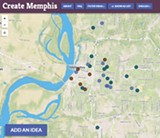 Dots on this map represent ideas for Memphis.