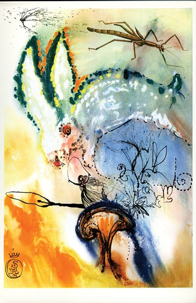 Down the Rabbit Hole by Salvador Dali