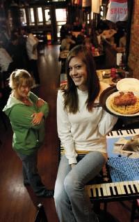Sarah and Grace at Miss Polly's - JUSTIN FOX BURKS