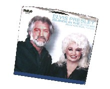 "Elvis Presley and Dolly Parton's 1983 #1 hit single, ""Islands in the Stream."""