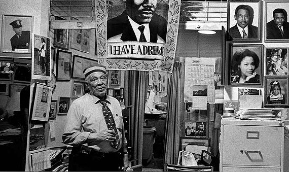 Ernest Withers inside his office on Beale Street