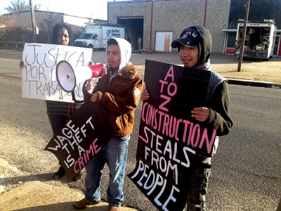 Esteban and Marcos Mendoza demand wages from A to Z Construction. - BIANCA PHILLIPS