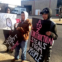 Esteban and Marcos Mendoza demand wages from A to Z Construction.