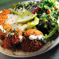 Falafel Plate at Sean's Cafe