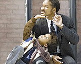 """Father and son: The Smith boys pursue """"happyness."""""""