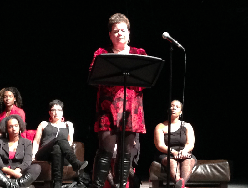 """Jakatae Jessup performs an excerpt from """"The Vagina Monologues."""""""