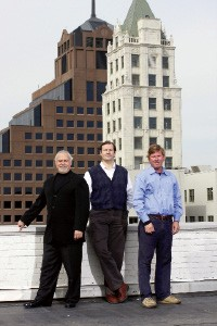 Court Square Center developers, from left: John Basek, C. Yorke Lawson, and William Chandler - JUSTIN FOX BURKS