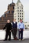 Court Square Center developers, from left: John Basek, C. Yorke Lawson, and William Chandler