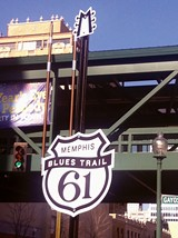 CHRIS SHAW - First marker for Memphis Blues Trail at Third and Gayoso.