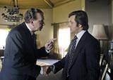 Frank Langella and Michael Sheen