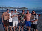 Frank Murtaugh, third from right, with old friends in Myrtle Beach.