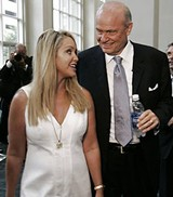 Fred Thompson and his typical young wife.