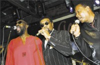 From left: Isaac Hayes, William Bell, and Eddie Floyd - GARY MILLER
