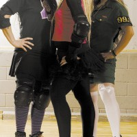 (From left) The Victator, Hustlin' Flow, and Auntie Bactery'all are skaters and board members of MRD.