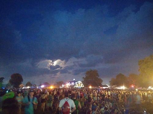 Full moon over Bonnaroo