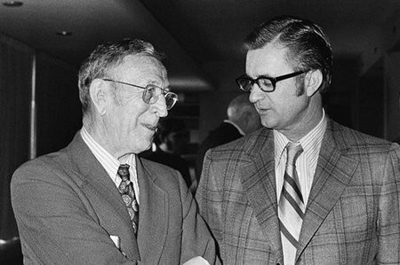 John Wooden and Gene Bartow