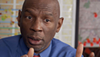 Geoffrey Canada, the inspiring leader of the Harlem Children's Zone, a school that seeks to increase college graduation rates in Harlem.