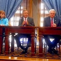 GOP Leaders: (l to r) House Majority Leader Gerald McCormick, House speaker Beth Harwell, Governor Bill Haslam, Senator Speaker/Lt. Gov. Ron Ramsey, Senate Majority Leader Mark Norris