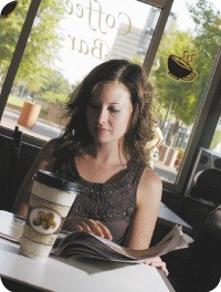 Grab your joe and go or stick around and relax at the Daily Grind Coffee Bar. - JUSTIN FOX BURKS