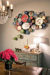 COURTESY MICHAEL FALCO/SETH COHEN PR - Greely Myatt's Fancy Assortment adorns Louise Gore's dining room.