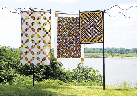 Greely Myatt's Quilts on a Line, at the National Ornamental Metal Museum