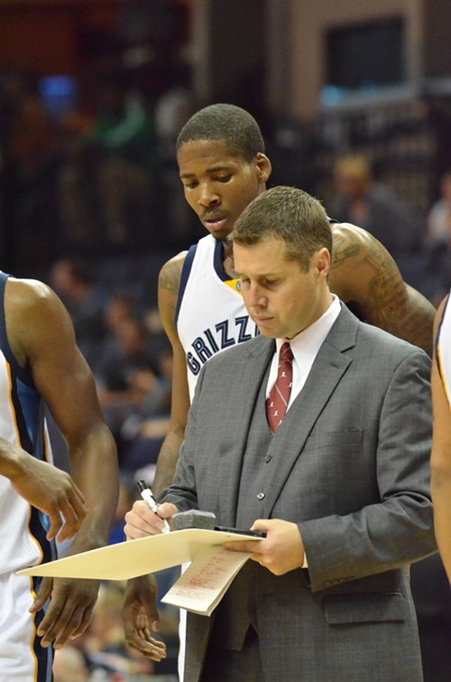 Griz Coach Dave Joerger got the first win of his career tonight against the Pistons.