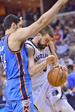 Marc Gasol looked like himself last night for the first time in a while. - LARRY KUZNIEWSKI