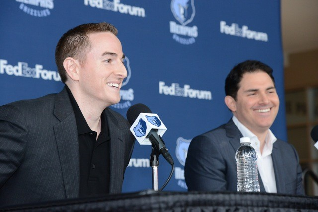 Grizzlies controlling owner Robert Pera and team CEO Jason Levien.
