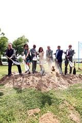 Ground breaking with the mayors and the Hydes - JUSTIN FOX BURKS