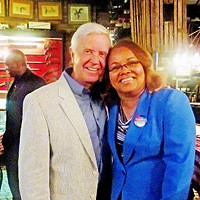Dynamic Duo Gubernatorial candidate Gordon Ball and mayoral candidate Deidre Malone at a two-fer meet-and-greet JB