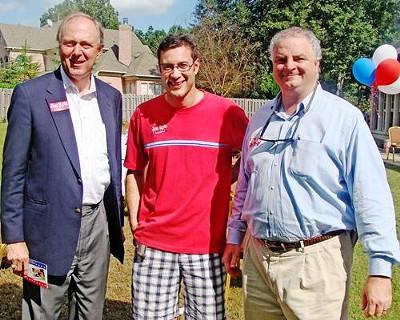 Gubernatorial candidate Jim Kyle, Shelby County Commissioner Matt Kuhn, and Kyle aide Jeff Sullivan - JB