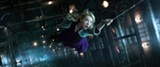 Gwen Stacy (Emma Stone) hangs by a silk thread