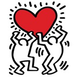 Haring's work: a celebration of life with social commentary in the brushwork