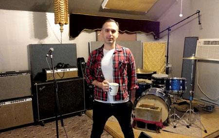 Harry Koniditsiotis in his home studio