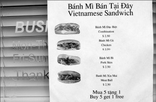 Have it your way: bahn mi sandwich options at Lobster King