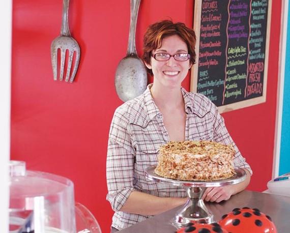 Heather Bugg's Ladybugg Bakery flies away home.