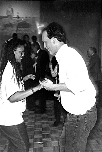 Henri Brooks and Tim Joyce in 1993 - JACKSON BAKER