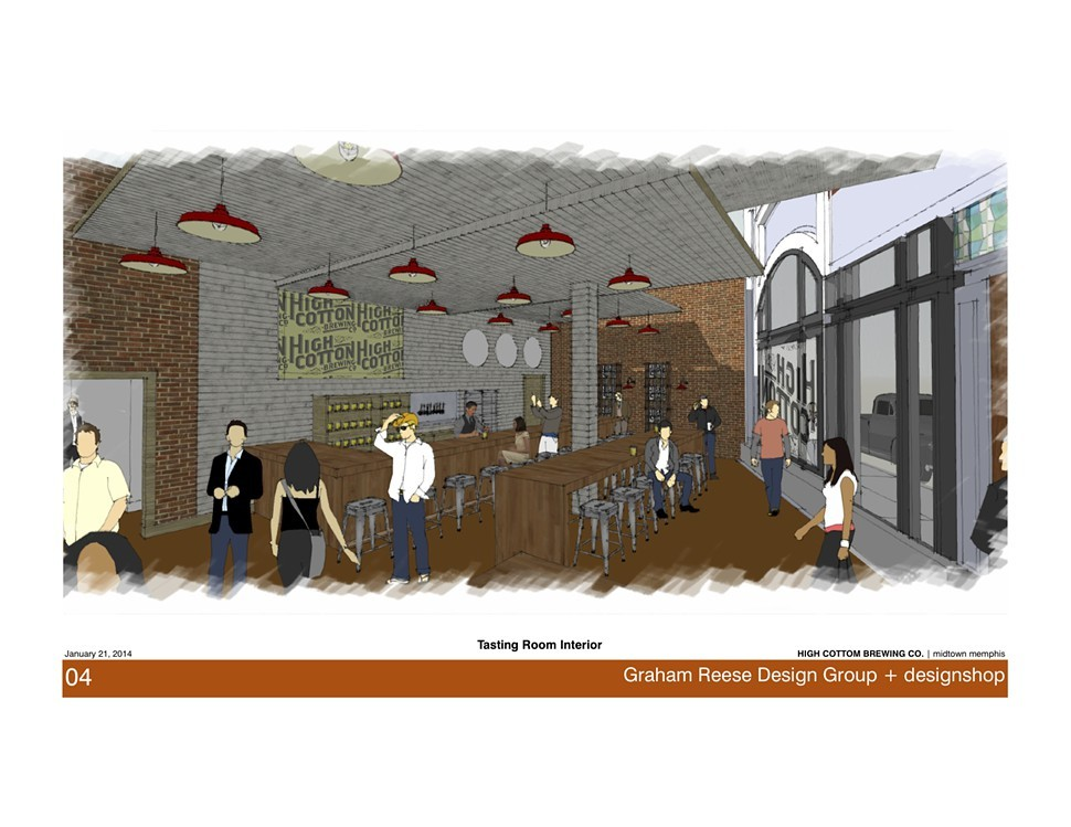 High Cottons proposed taproom.