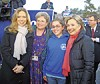 Hillary Clinton with supporters and daughter Chelsea