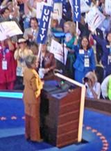 JB - Hillary with her peeps