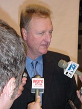Indianpolis Pacers president Larry Bird