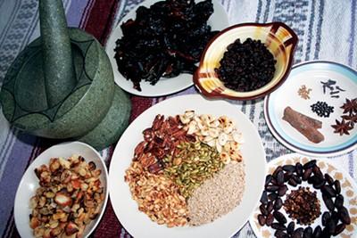 Ingredients for mole - ARI LEVAUX