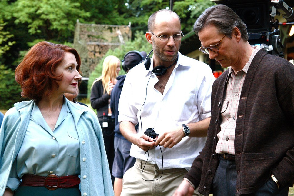 Ira Sachs (center) on the set of Married Life.