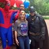 "Awkward Reporter Photos: WREG's Melissa Moon poses with Superman, Batman, and the Amazing Spider-Man who's ""Going Commando"""