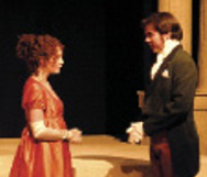 Jade Hobbs and Steven Brown in Pride & Prejudice at Theatre Memphis
