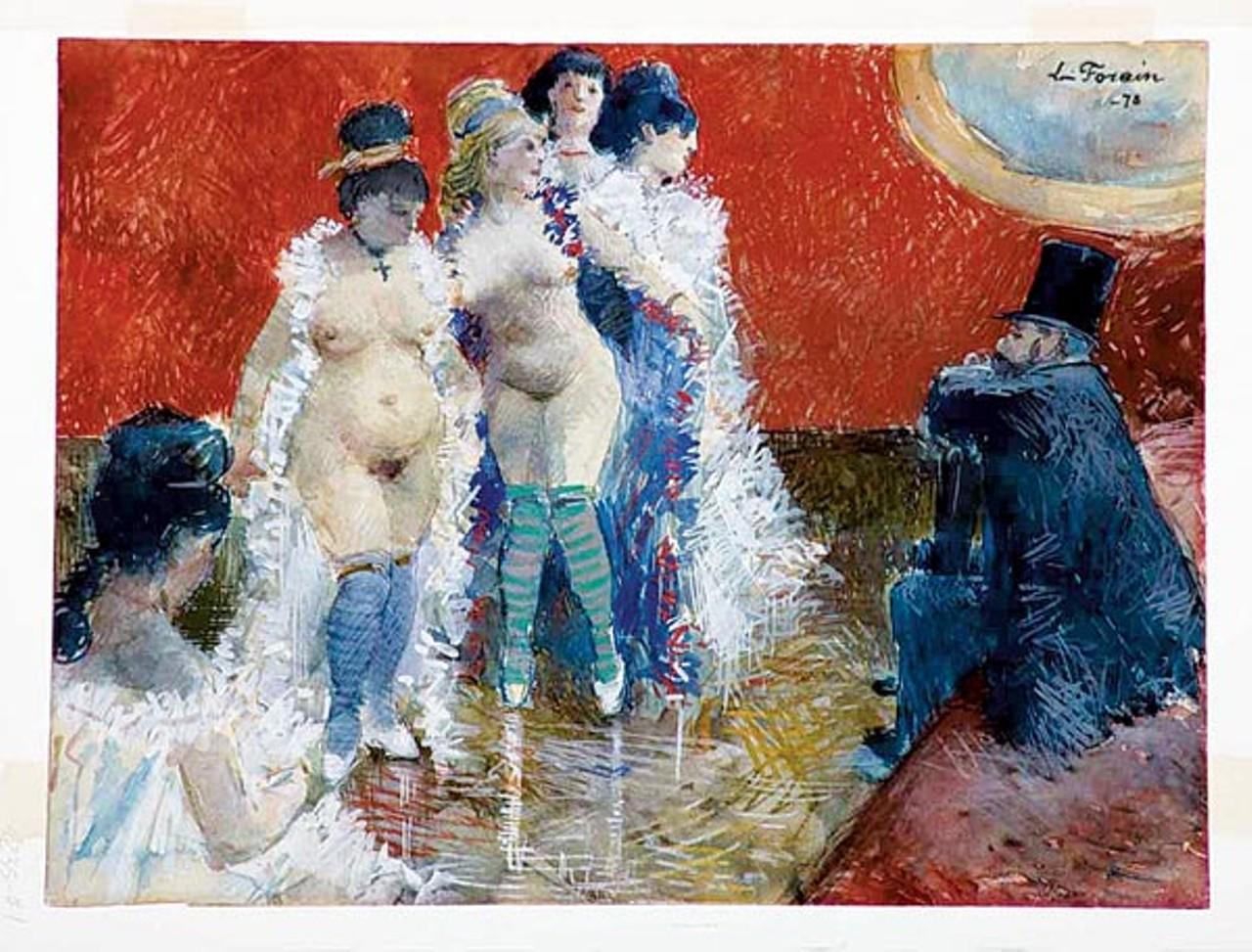 jean louis forain Jean louis forain 1852-1931 tu me fais des cachoteries comme si j'étais  jalousie pen and black ink 10 5/8 x 8 1/2 inches (270 x 216 mm) bequest of  alex.