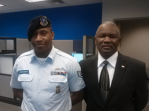 Jerome Hardaway (L) with Cordell Walker (executive director of AOVS)