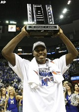 Joey Dorsey with trophy.