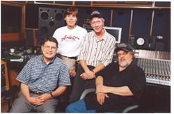 John Fry, Jody Stephens, John Hampton, and Jim Dickinson - COURTESY ARDENT STUDIOS